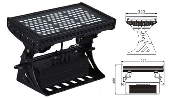 Światło LED dmx,Lampa ścienna LED,Podkładka ścienna LED 500W Square IP65 DMX 1, LWW-10-108P, KARNAR INTERNATIONAL GROUP LTD