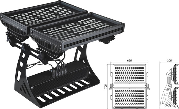 Światło LED dmx,Światła powodzi LED,Kwadratowa powódź LED o mocy 250W Square IP65 RGB 2, LWW-10-206P, KARNAR INTERNATIONAL GROUP LTD