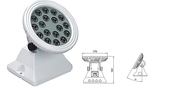 Światło LED dmx,Lampa ścienna LED,LWW LED o mocy 25W 1, LWW-6-18P, KARNAR INTERNATIONAL GROUP LTD