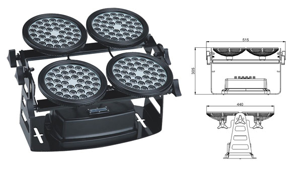 Światło LED dmx,led high bay,Lampa błyskowa LED o mocy 155W 1, LWW-8-144P, KARNAR INTERNATIONAL GROUP LTD