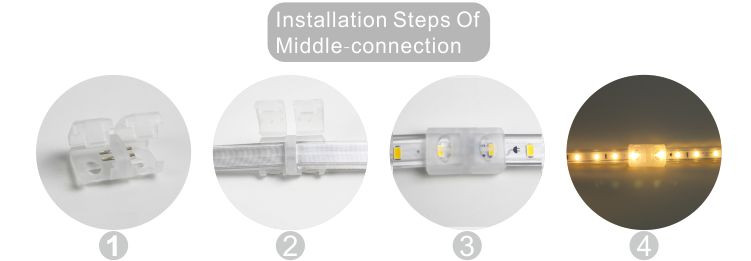 Światło LED dmx,led wstążka,Lampka ledowa 240 V AC bez drutu SMD 5730 10, install_6, KARNAR INTERNATIONAL GROUP LTD