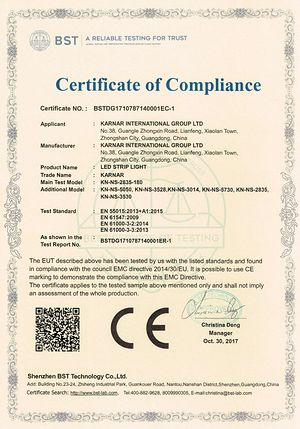 certifikatë KARNAR INTERNATIONAL GROUP LTD